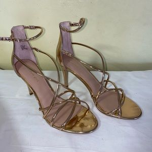 Madden Girl Rose Gold High Heels Size 11